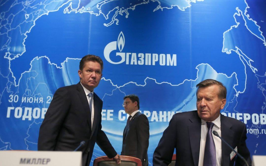 Gazprom Revenues Drop