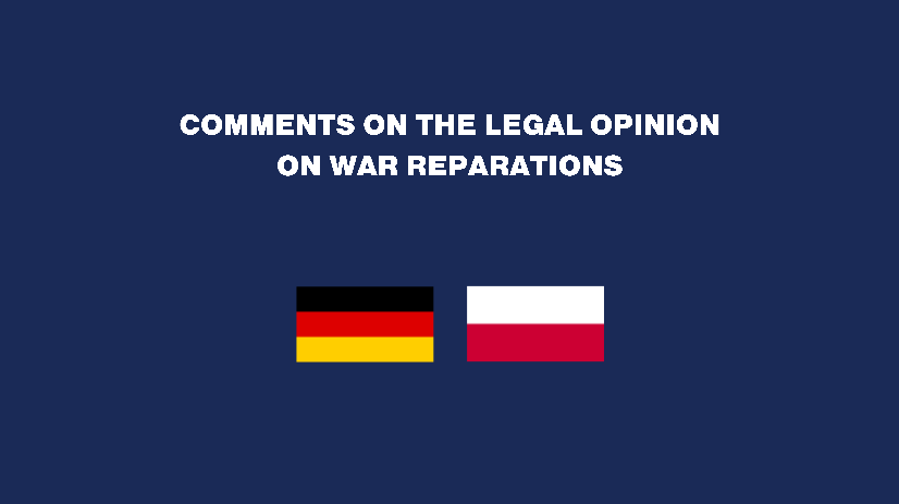 Comments on the Legal Opinion on War Reparations