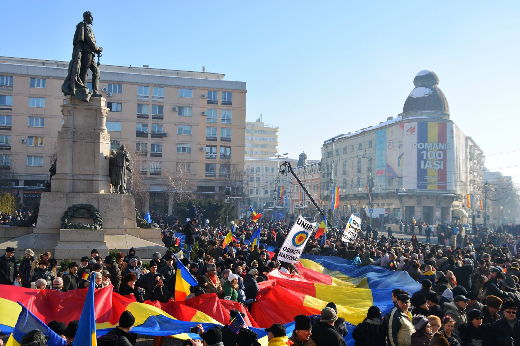 Manifestations is Chisinau calling for Romanian Union