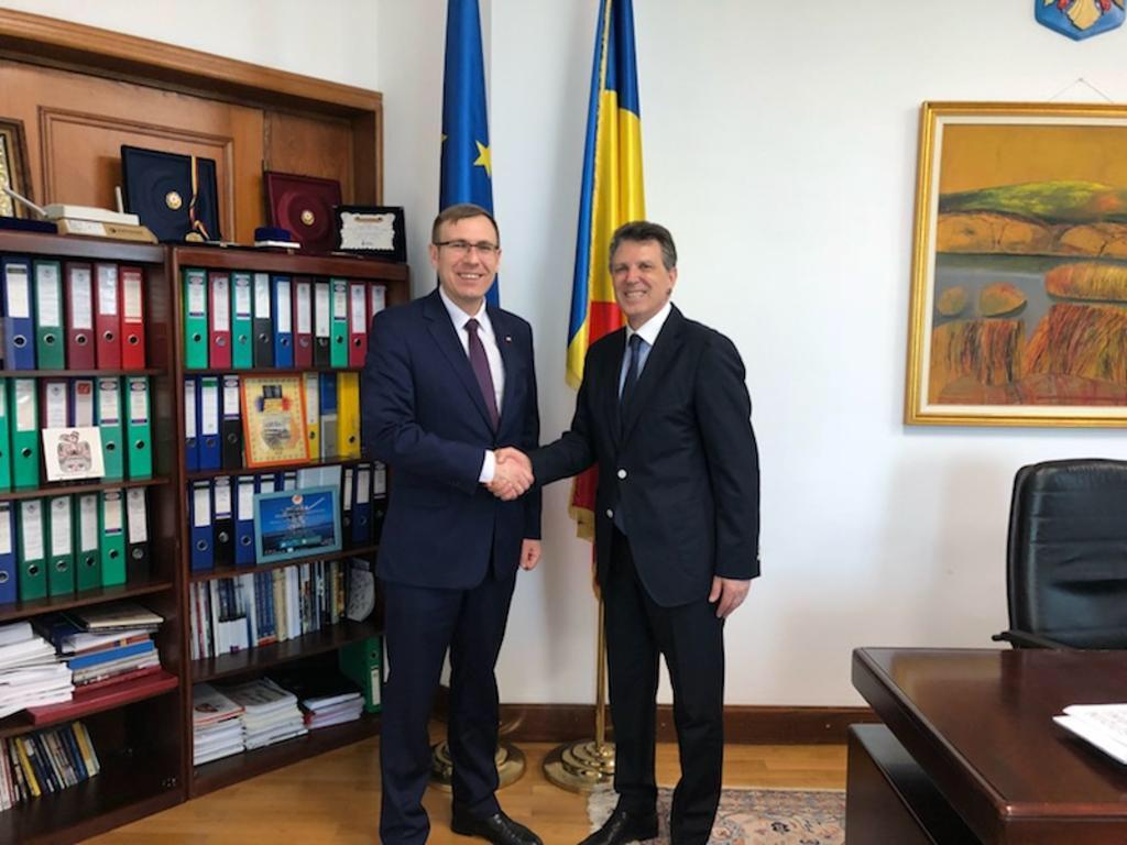Maciej Małecki – Przewodniczący Komisji Energii i Skarbu Państwa with Iulianem Iancu – Przewodniczącym Komisji ds. Przemysłu