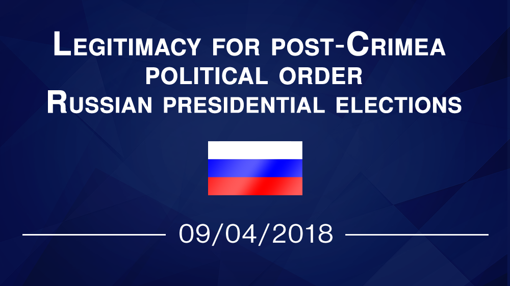 Legitimacy for post-Crimea political order. Russian presidential elections