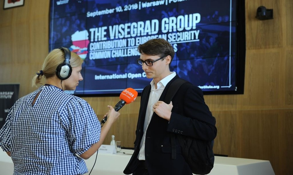 V4 Contribution to european security - Warsaw Institute Conference - Wojciech Kuchta interview polish radio