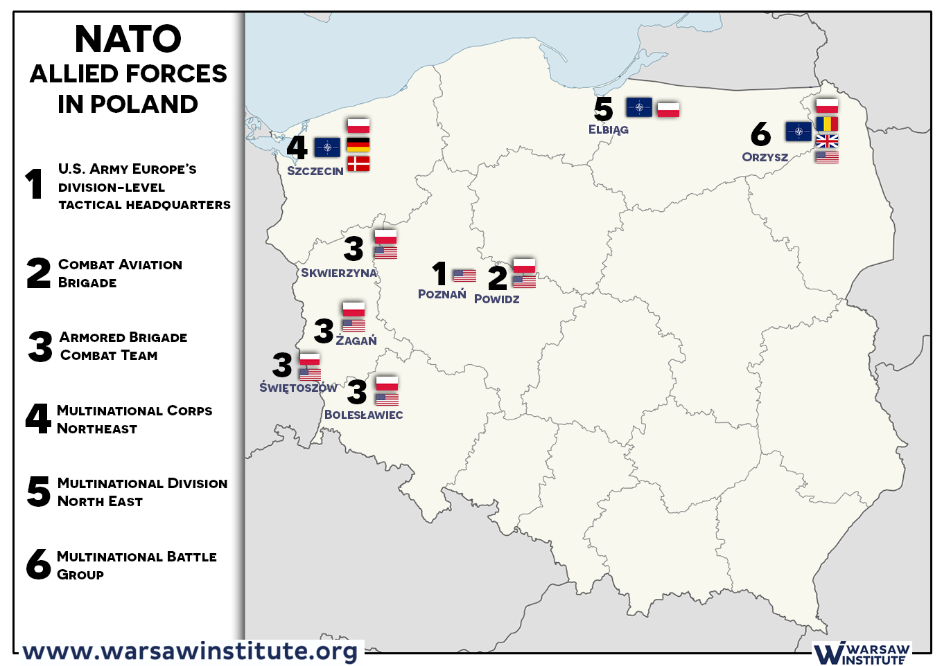 Us Permanent Military Base In Poland Favorable Solution For The - Us-military-base-locations-map