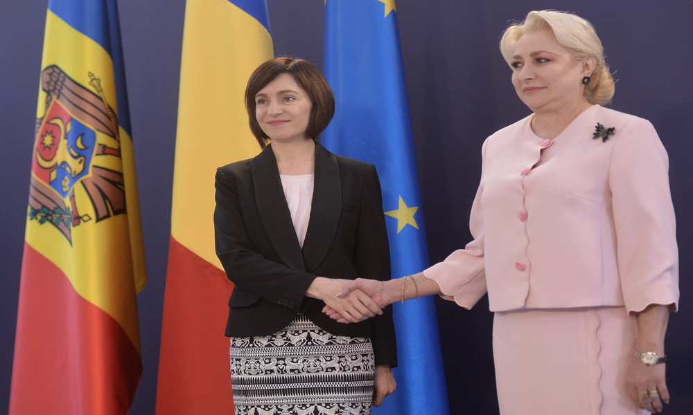 Romania as the first destination of the Moldovan PM