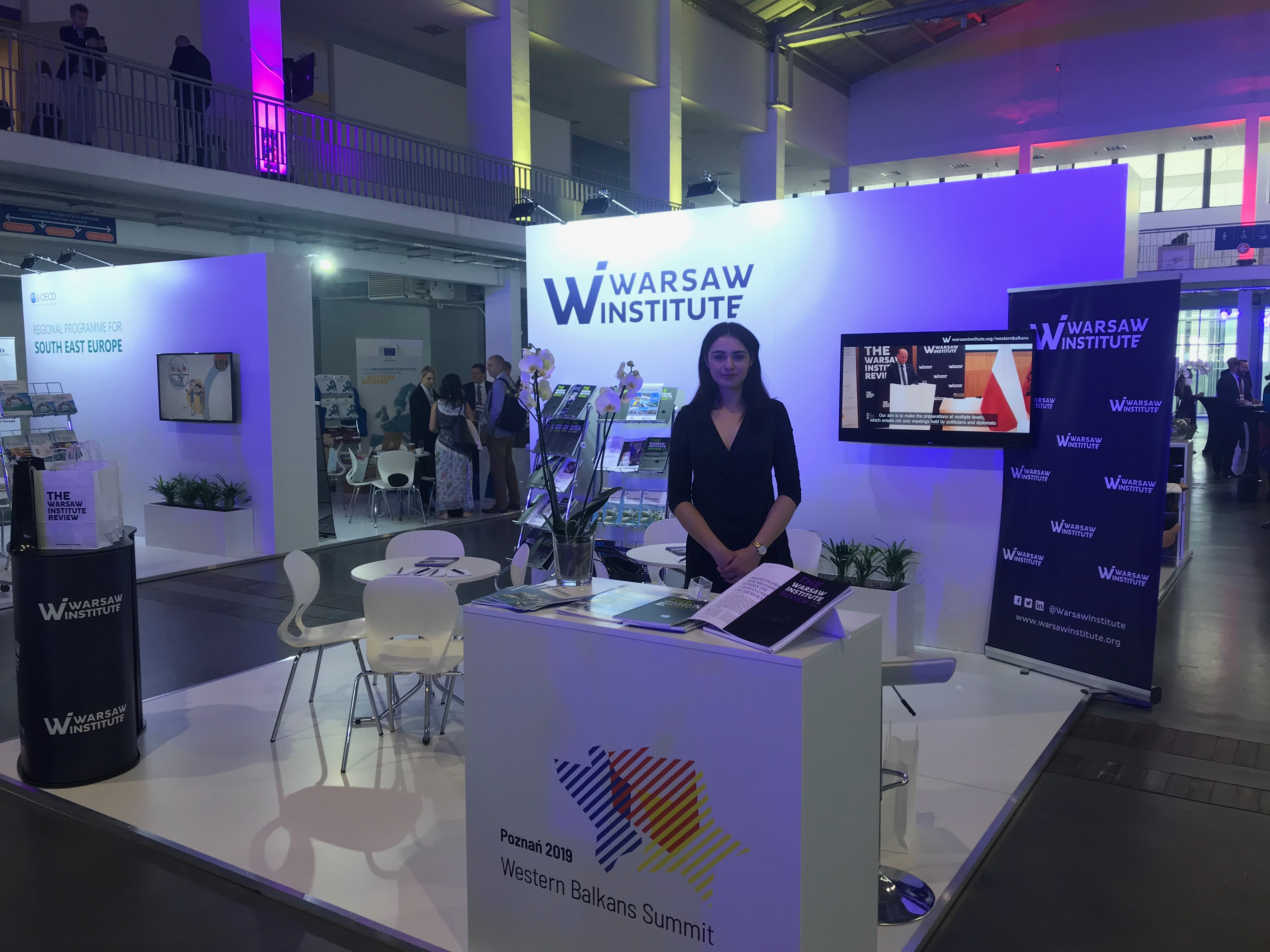 western balkans summit 2019 in Poznan warsaw institute stand
