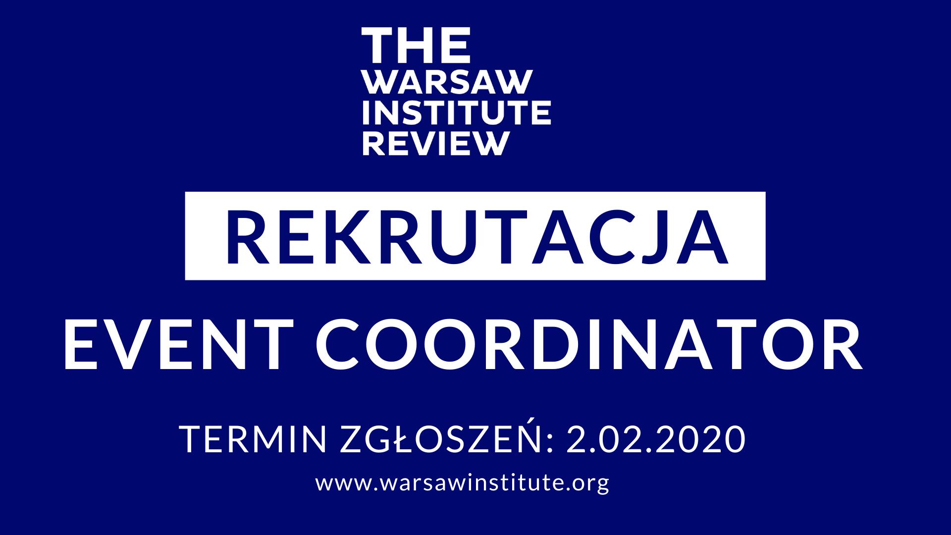 Rekrutacja na stanowisko Event Coordinator