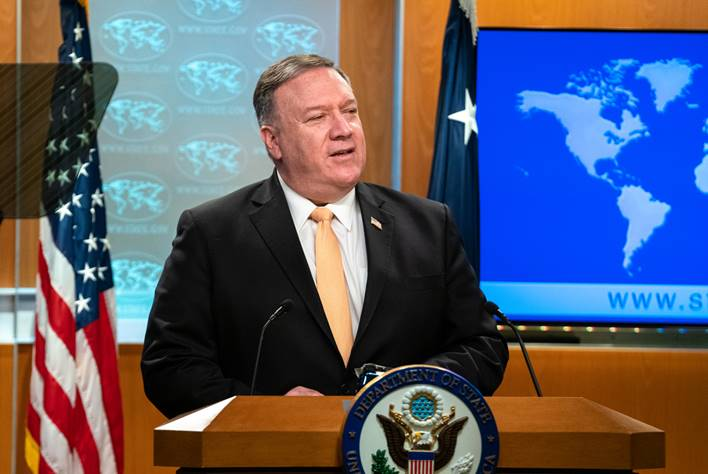 Pompeo in the crosshairs of China
