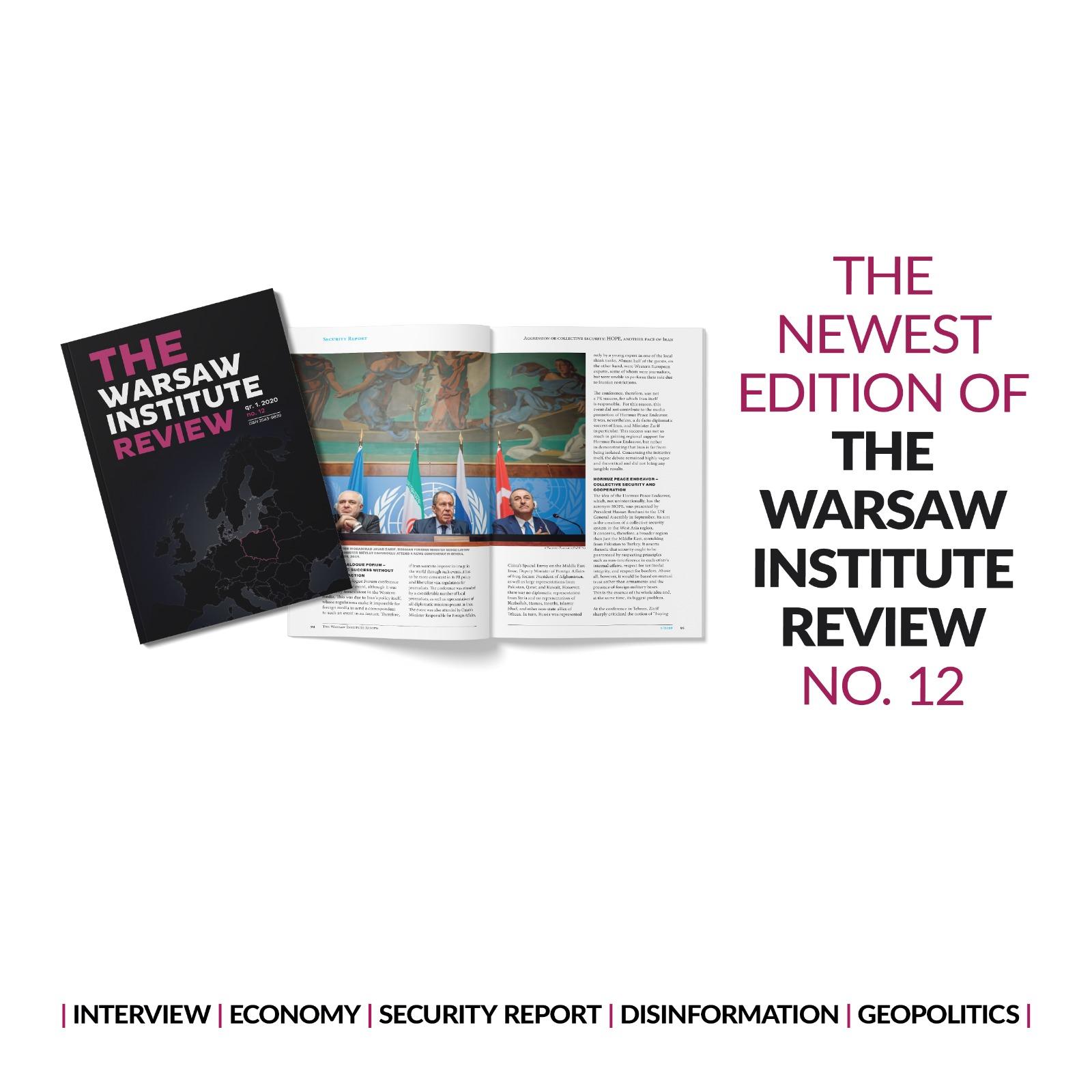 """Najnowszy 12. numer """"The Warsaw Institute Review"""" już dostępny"""
