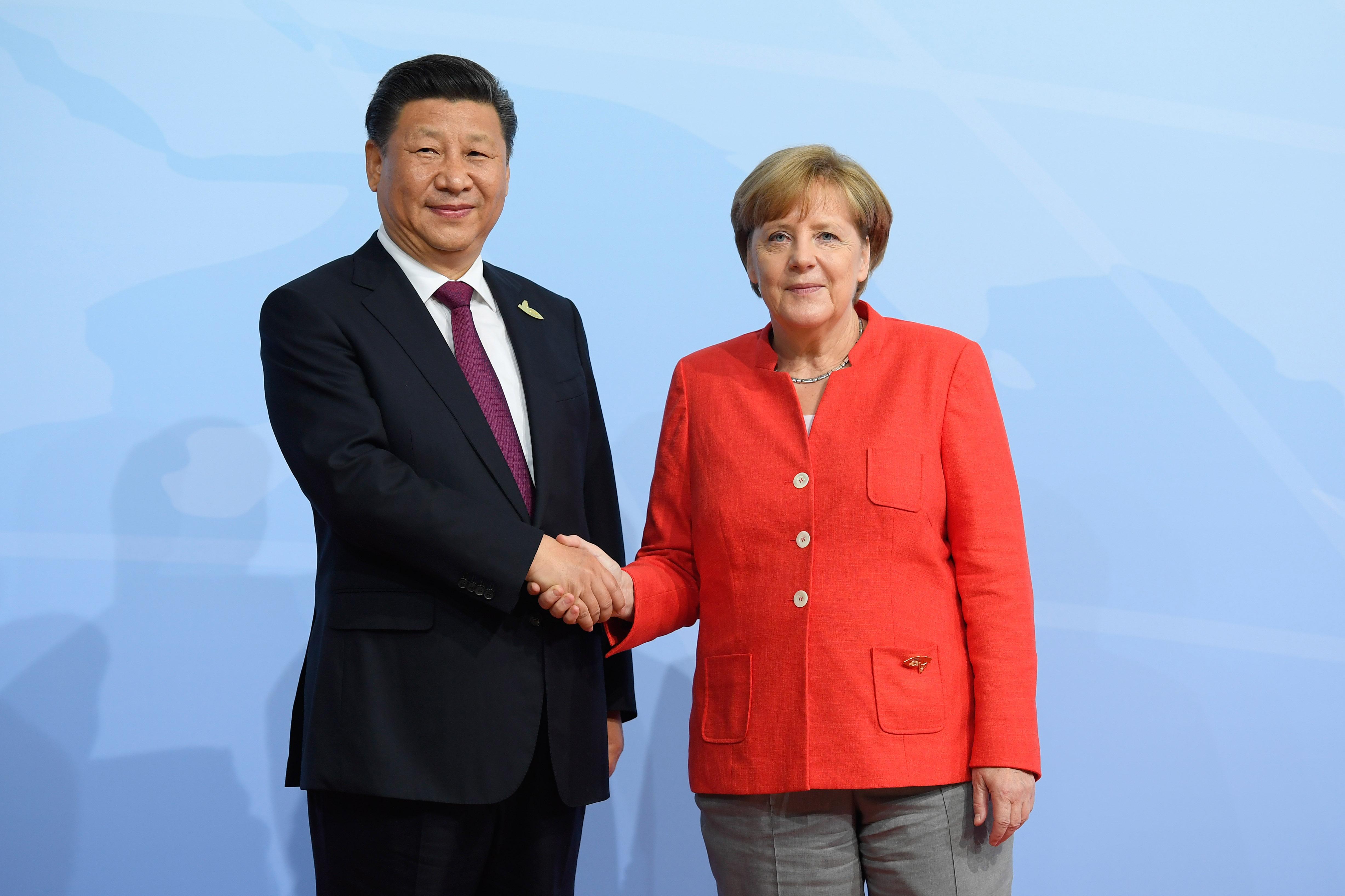Merkel – Xi Jinping talk