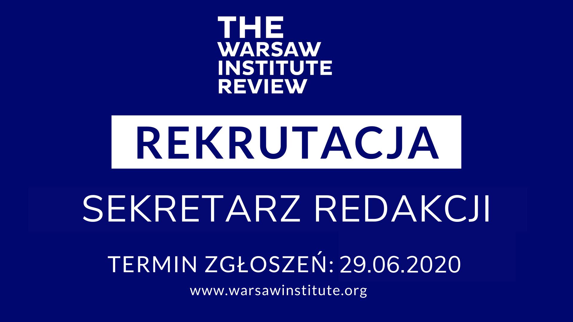 Rekrutacja na stanowisko Sekretarza Redakcji