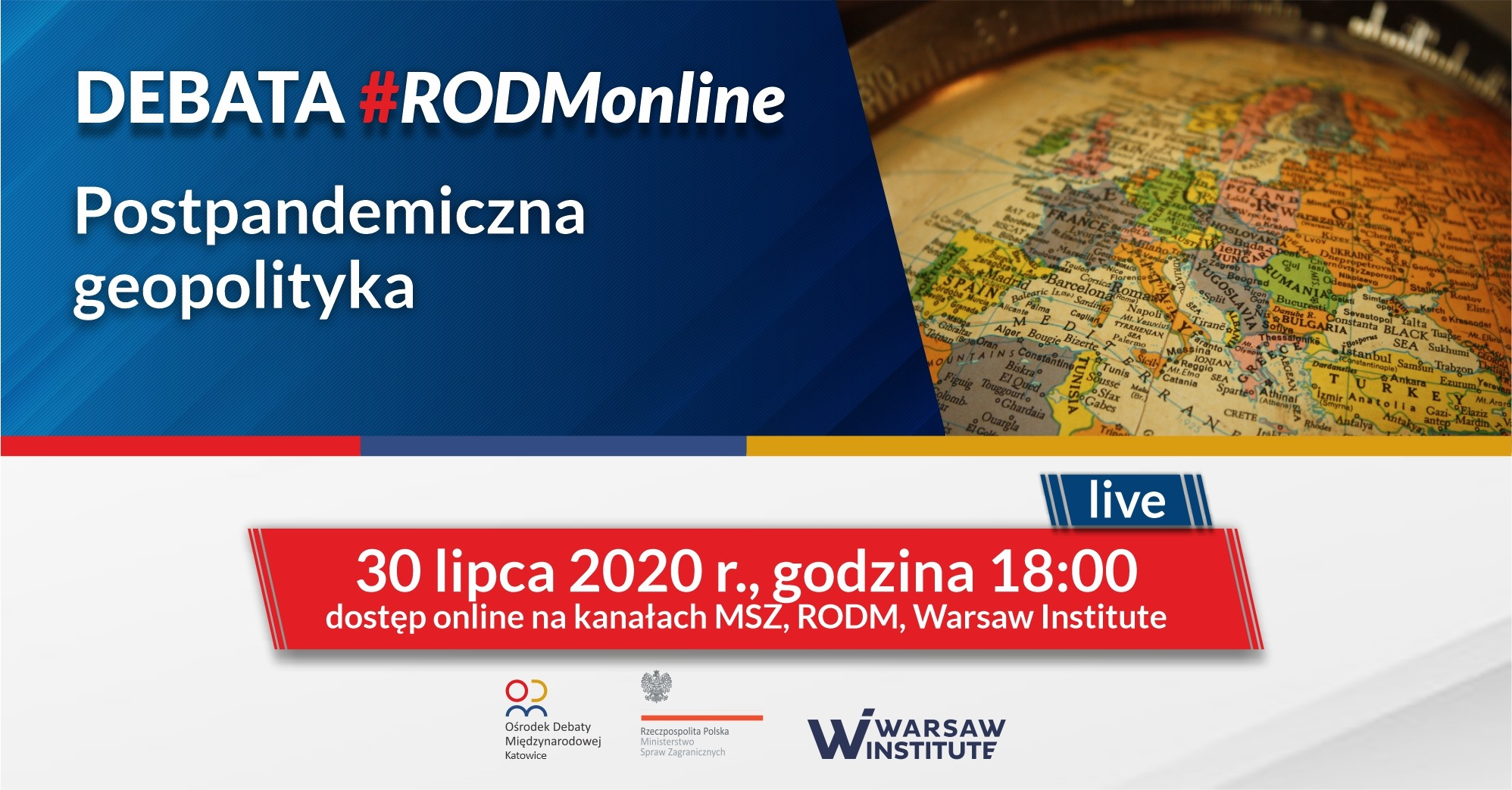 Postpandemiczna geopolityka | Debata #RODMonline