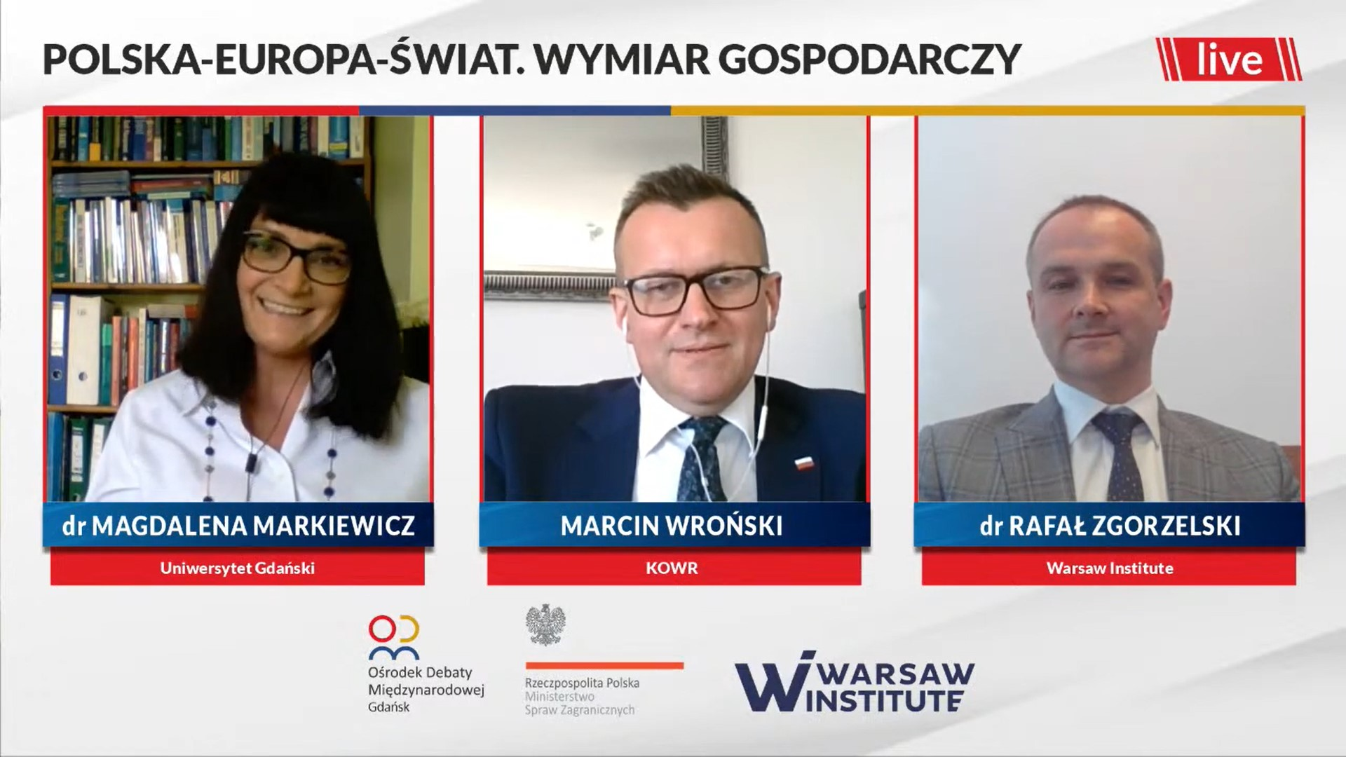 Recording: Poland – Europe – World. The economic dimension