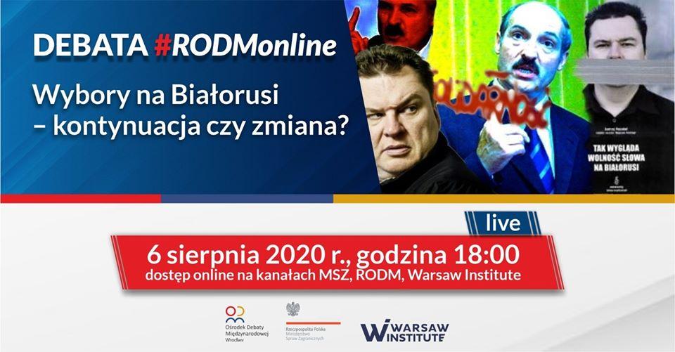 Wybory na Białorusi – kontynuacja czy zmiana?| Debata #RODMonline