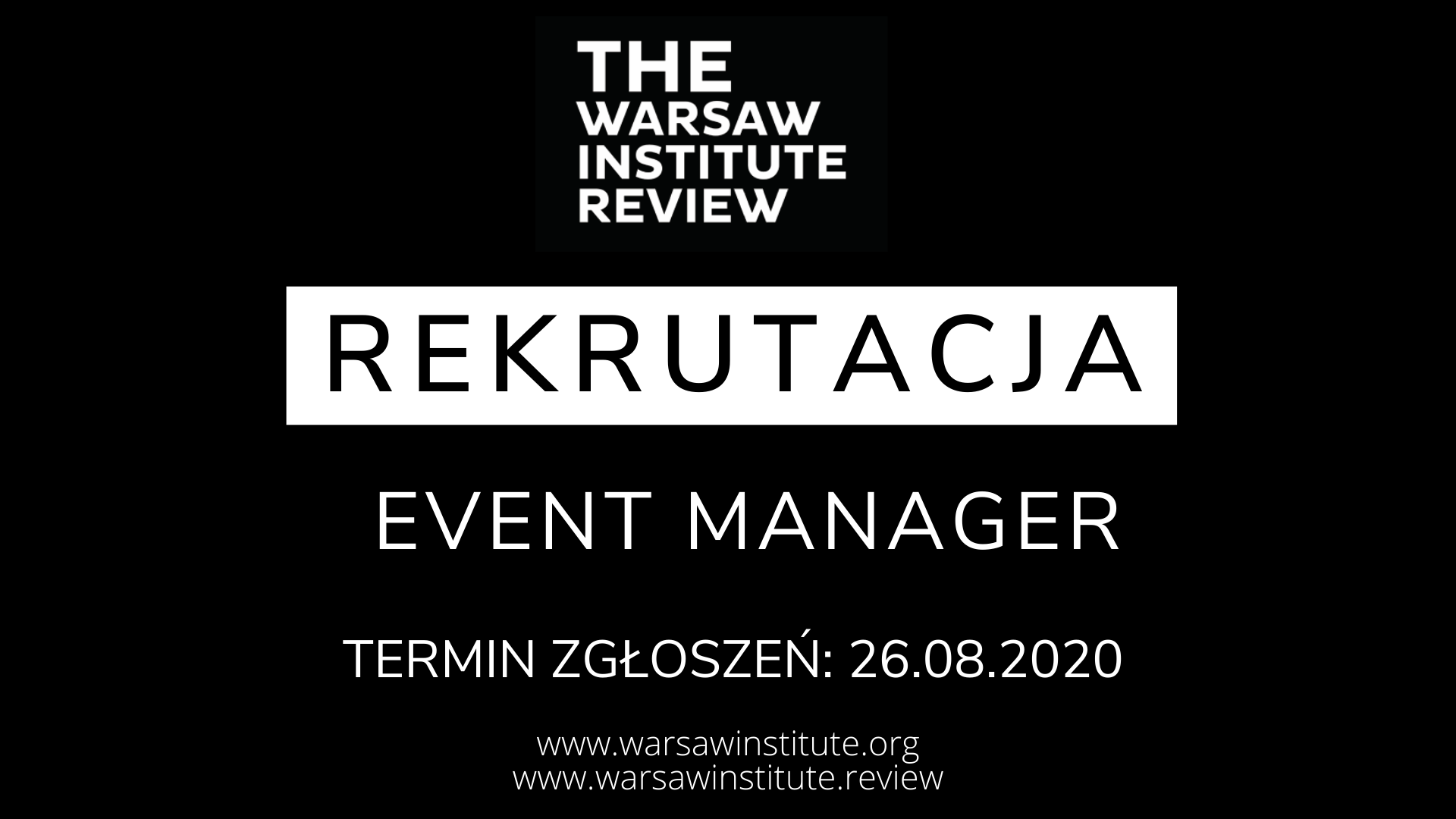 Rekrutacja – Event Manager