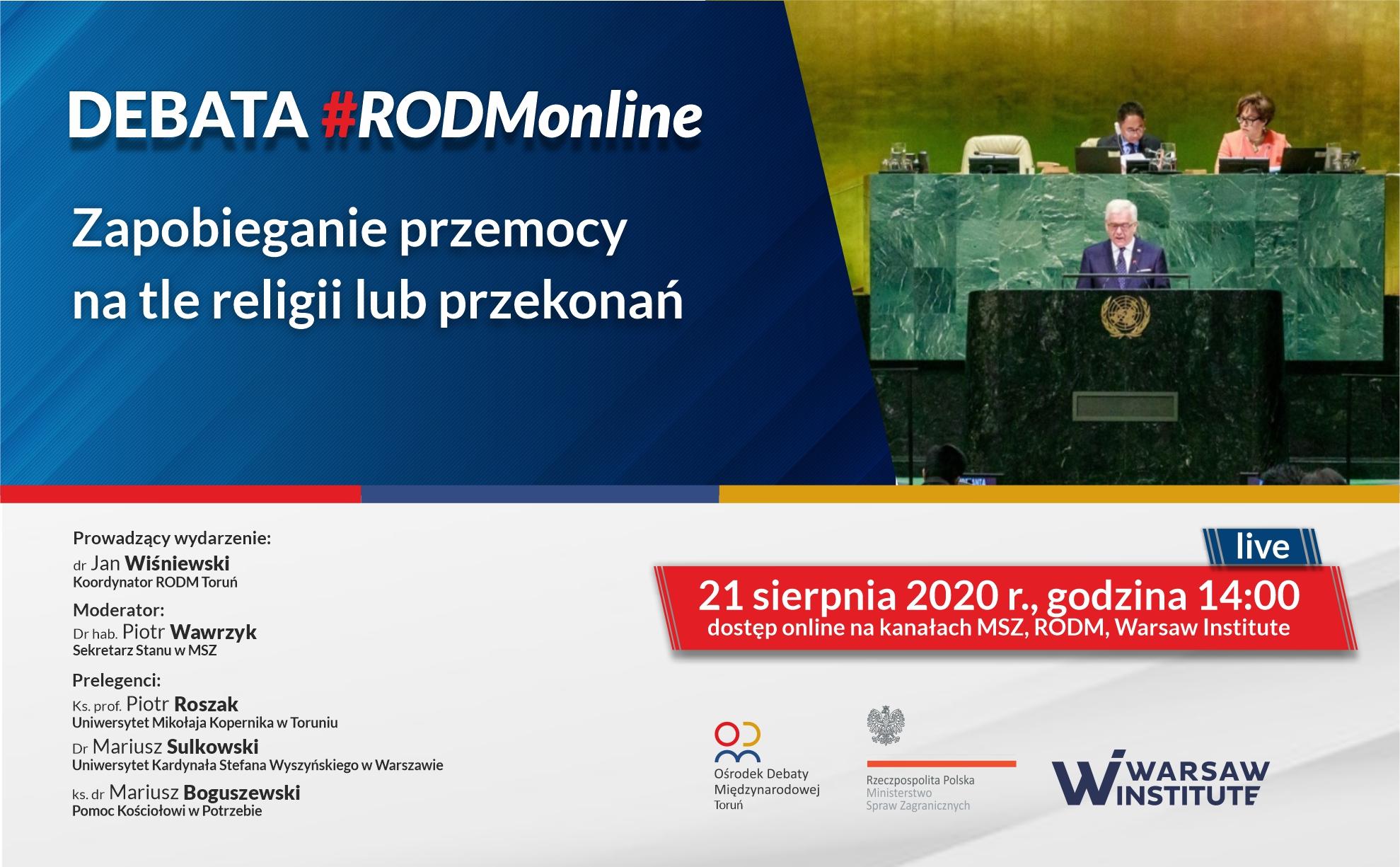 #RODMonline | Zapobieganie przemocy na tle religii lub wyznania