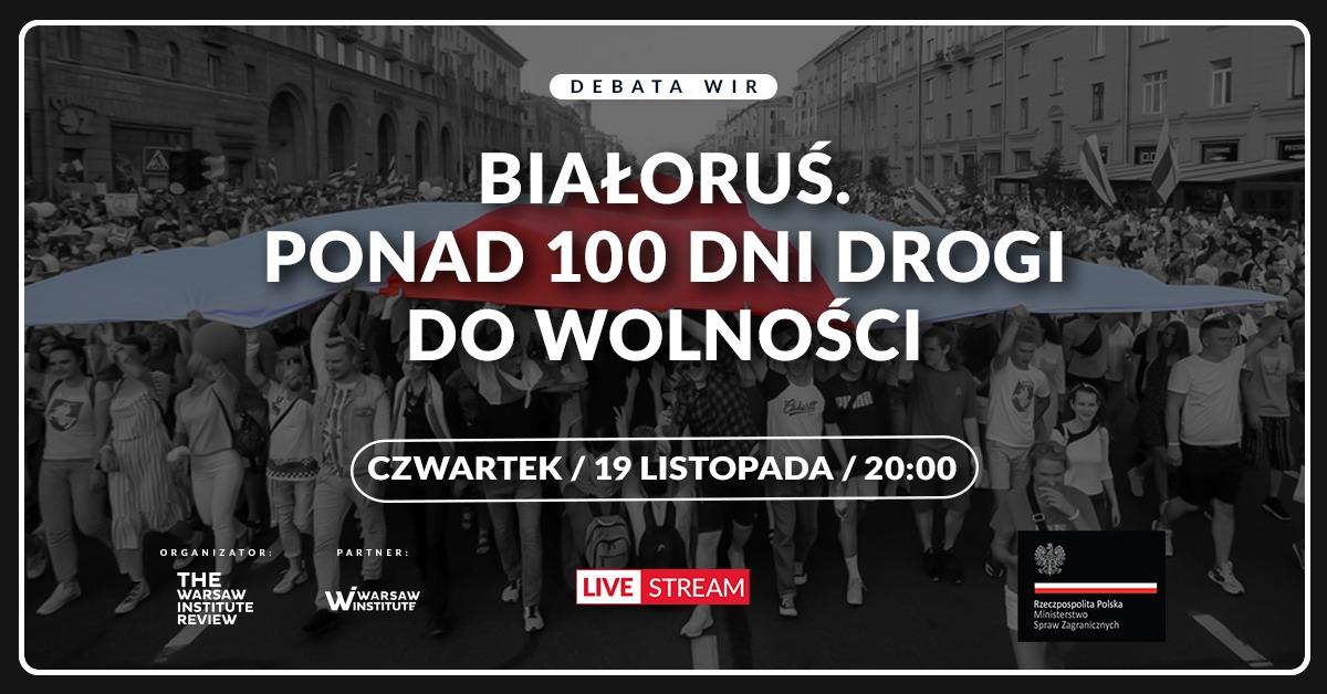 """Debata: """"Białoruś. Ponad 100 dni drogi do wolności"""""""