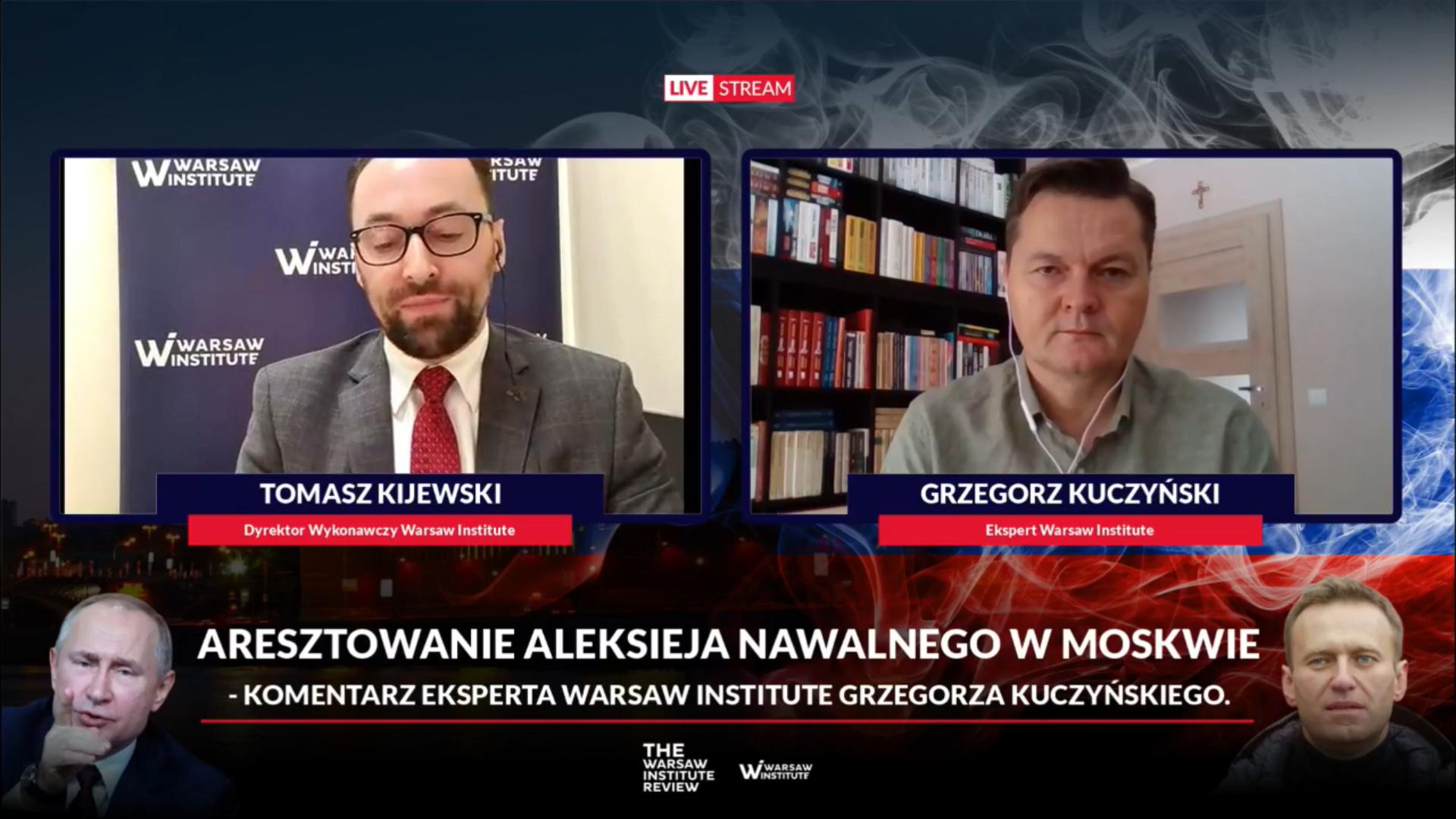 Grzegorz Kuczyński on the arrest of Alexei Navalny