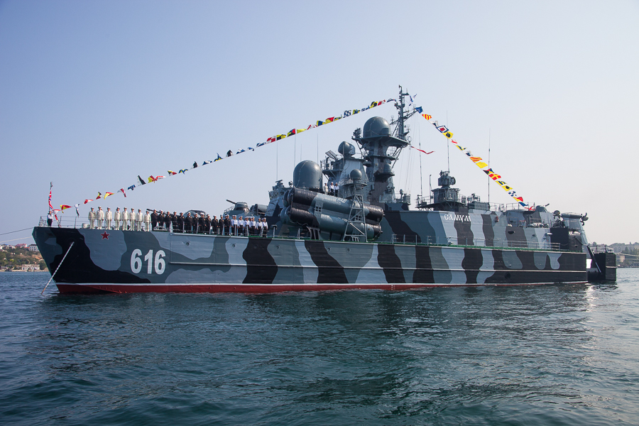 Russian Fleet Holds Naval Drills in Indian Ocean
