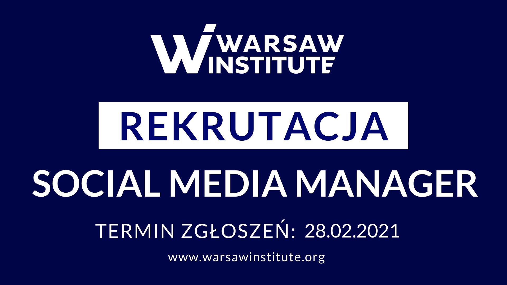 Rekrutacja – Social Media Manager