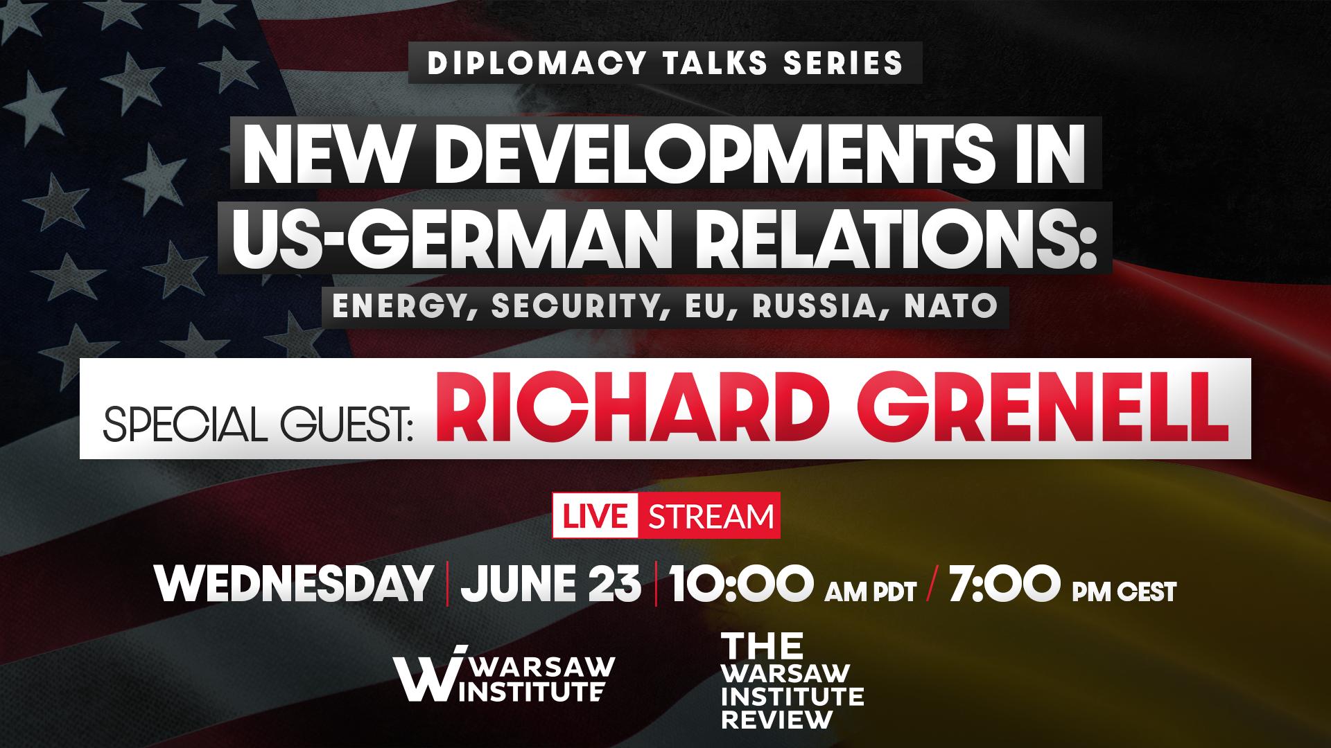 Dokąd zmierzają relacje USA i Niemiec: energetyka, bezpieczeństwo, UE, Rosja, NATO | Diplomacy Talks Series