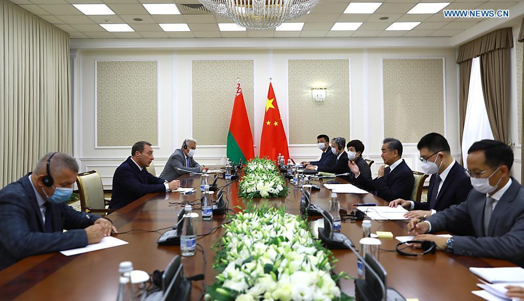 Szef MSZ Chin na spotkaniu z wicepremierem Białorusi