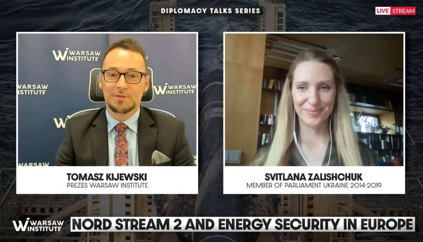 Event Summary: Nord Stream 2 is a threat to security in Europe