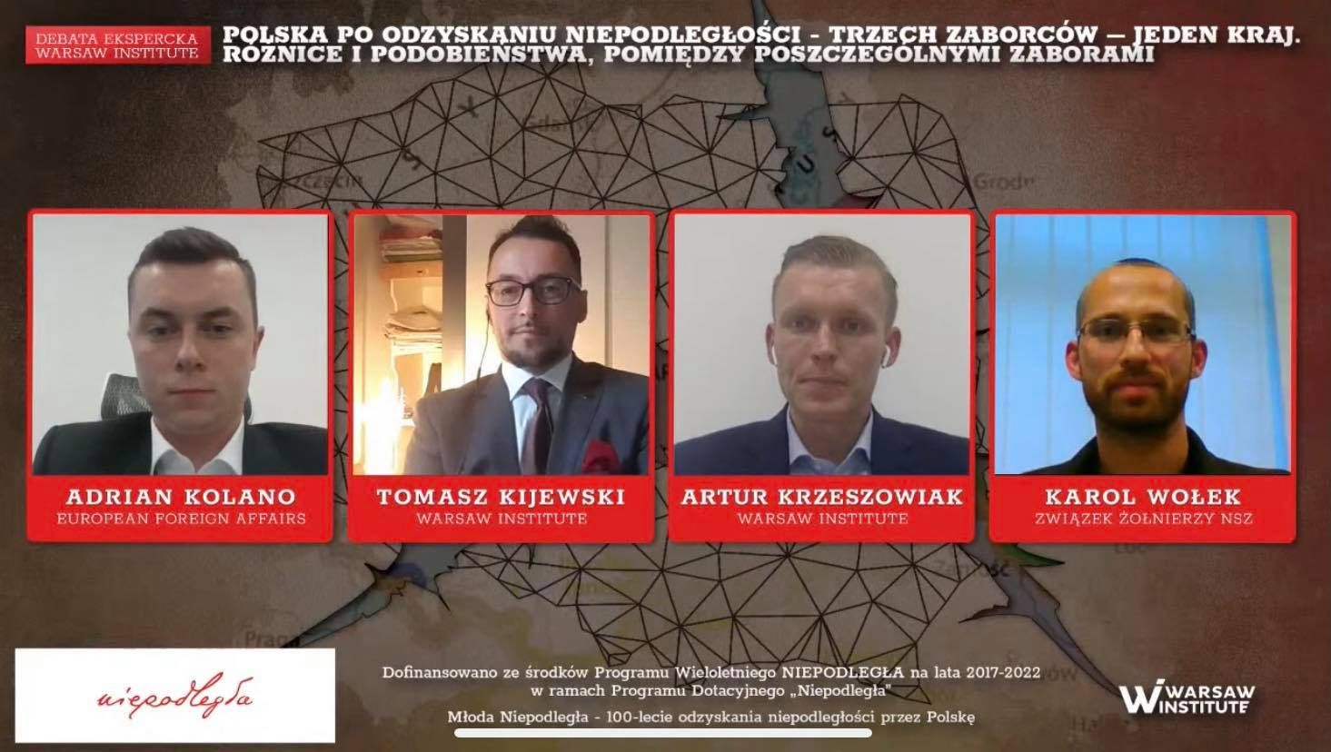 Event Summary: Poland after regaining independence – three partitioners – one country. Differences and similarities between particular partitions