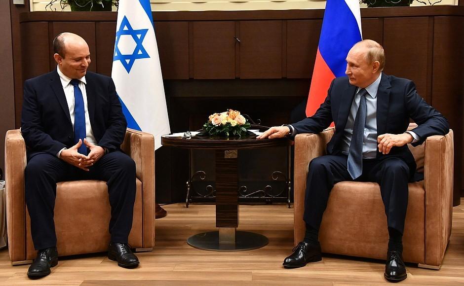Pierwsze spotkanie Putina z nowym premierem Izraela